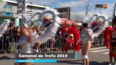 A Escola de Samba da Trofa abriu o corso carnavalesco de 2019